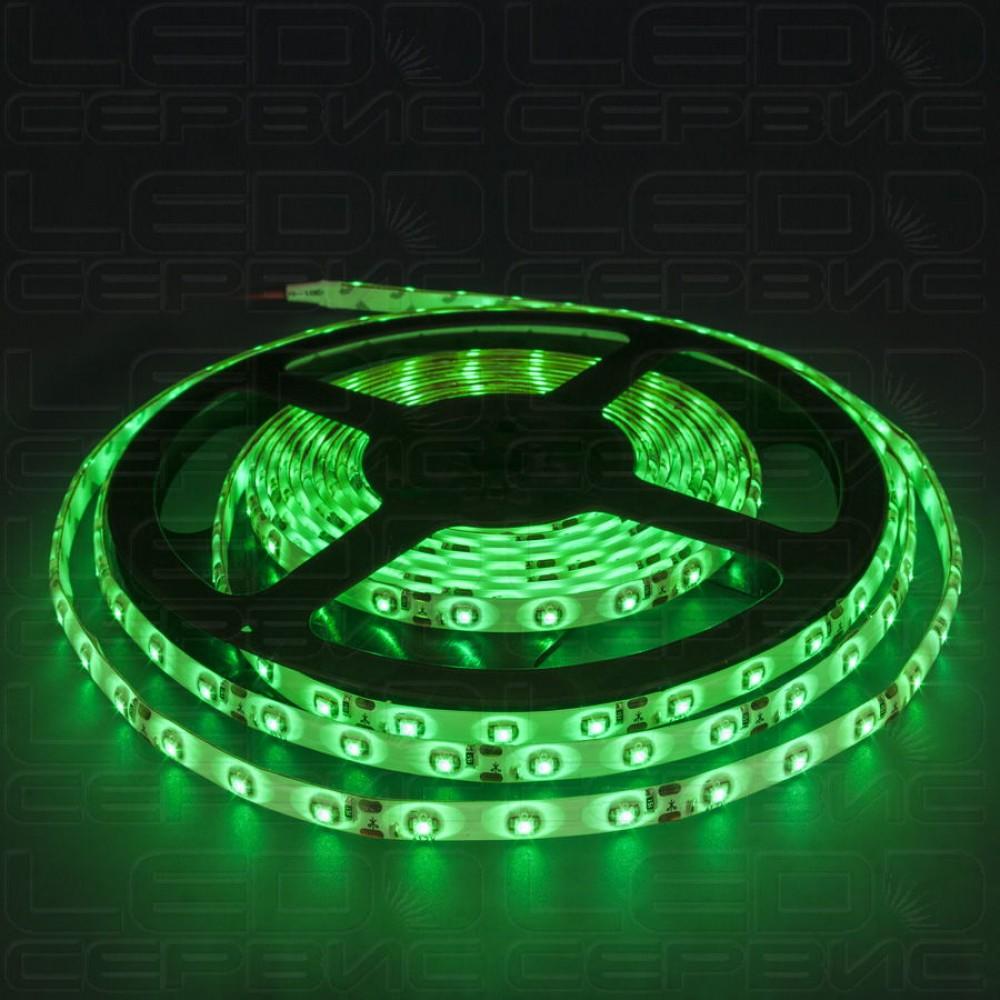 Светодиодная лента LS60 3528 IP55 зеленый свет