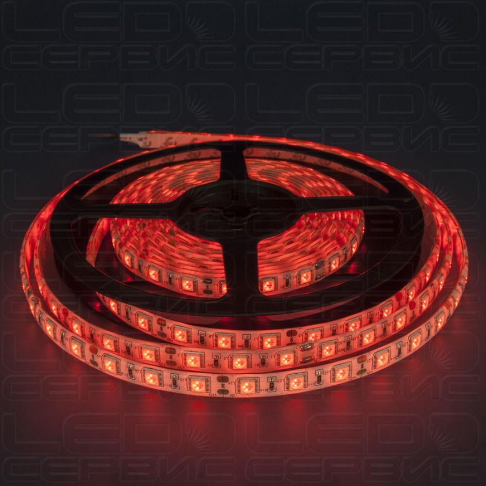 Светодиодная лента LS60 5050 IP55 красный свет