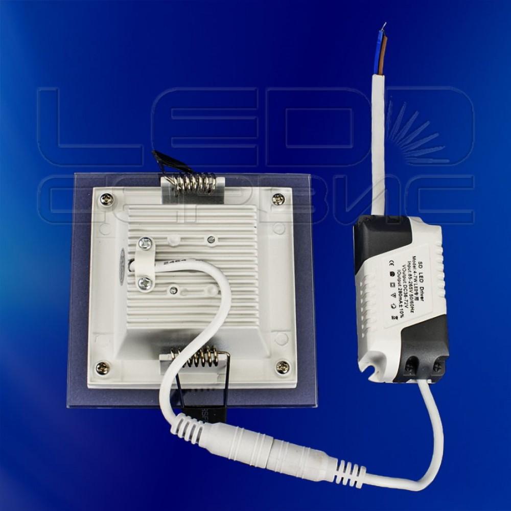 Светильник со стеклом LS-5730 квадратный 5Вт теплый свет