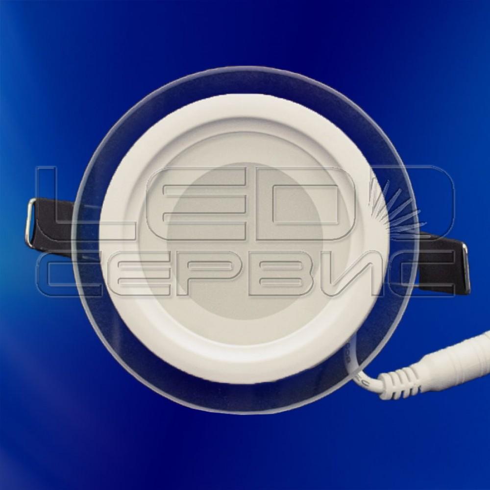 Светильник со стеклом LS-5730 круглый 5Вт теплый свет