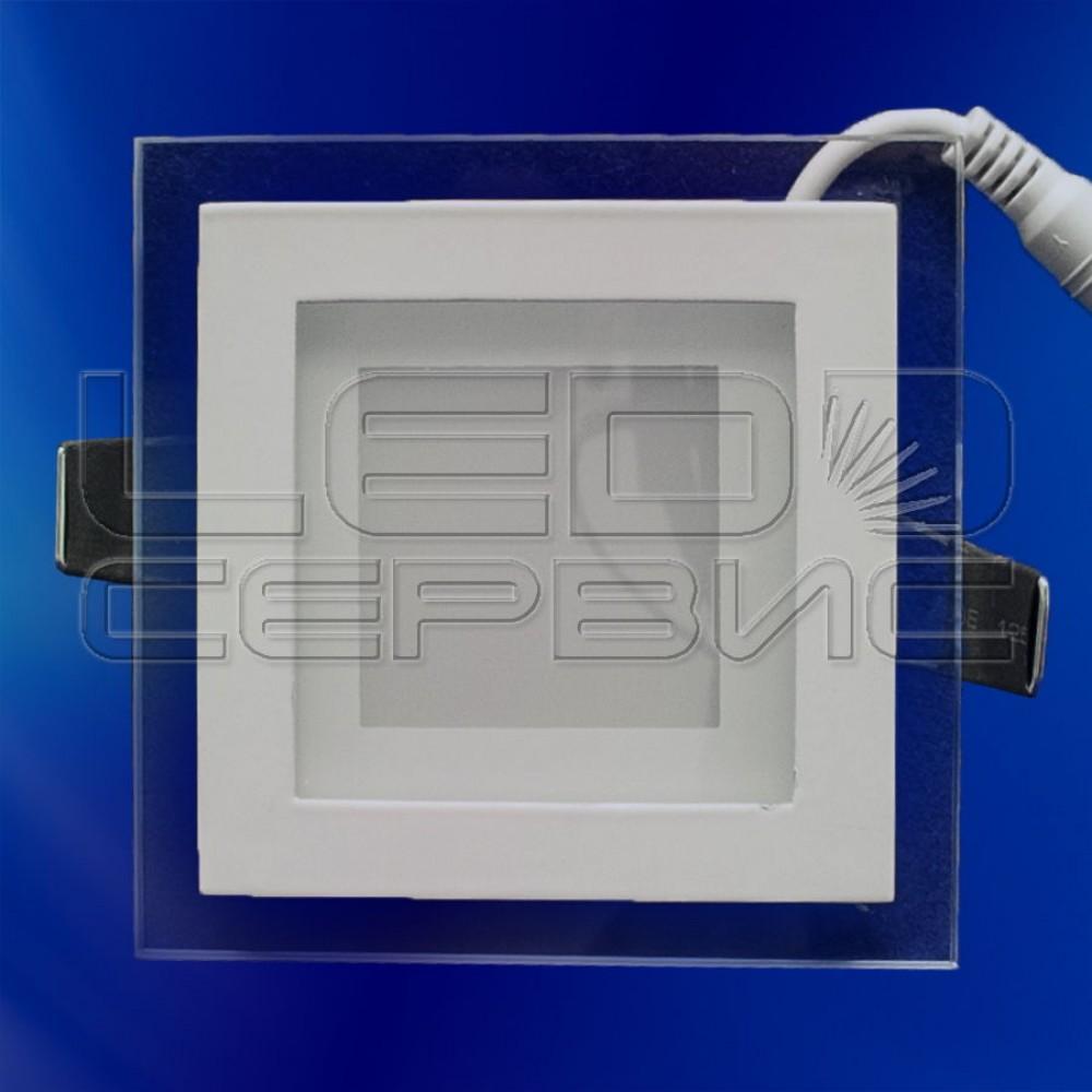 Светильник со стеклом LS-5730 квадратный 5Вт холодный свет