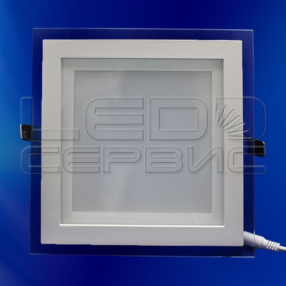 Светильник со стеклом LS-5730 квадратный 15Вт холодный свет