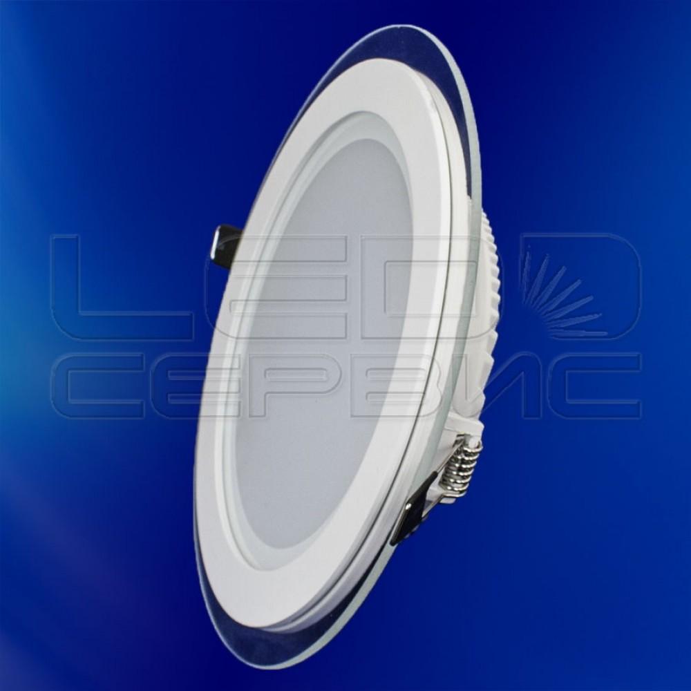 Светильник со стеклом LS-5730 круглый 15Вт холодный свет