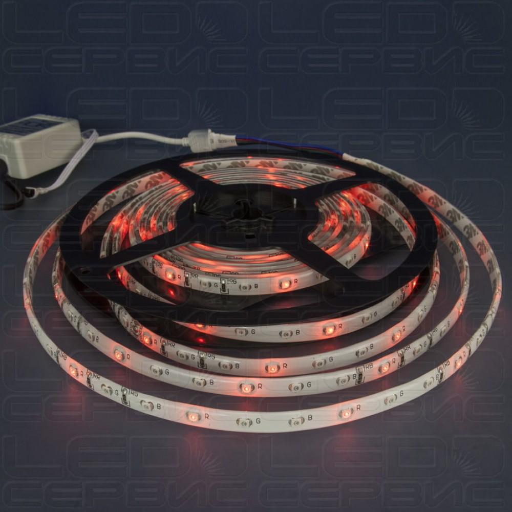 Светодиодная лента LS60 3528 IP55 RGB
