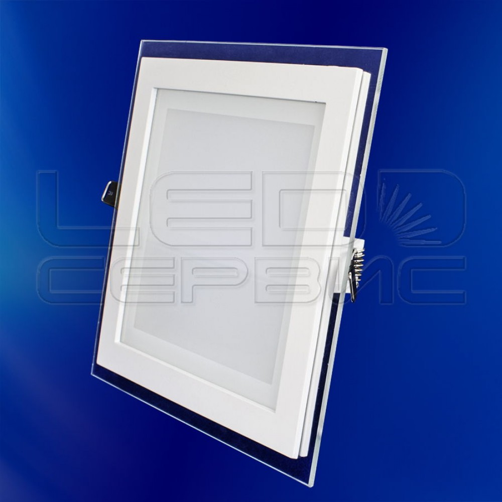 Светильник со стеклом LS-5730 квадратный 15Вт теплый свет