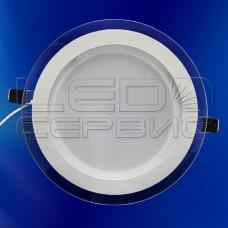 Светильник со стеклом LS-5730 круглый 18Вт холодный свет