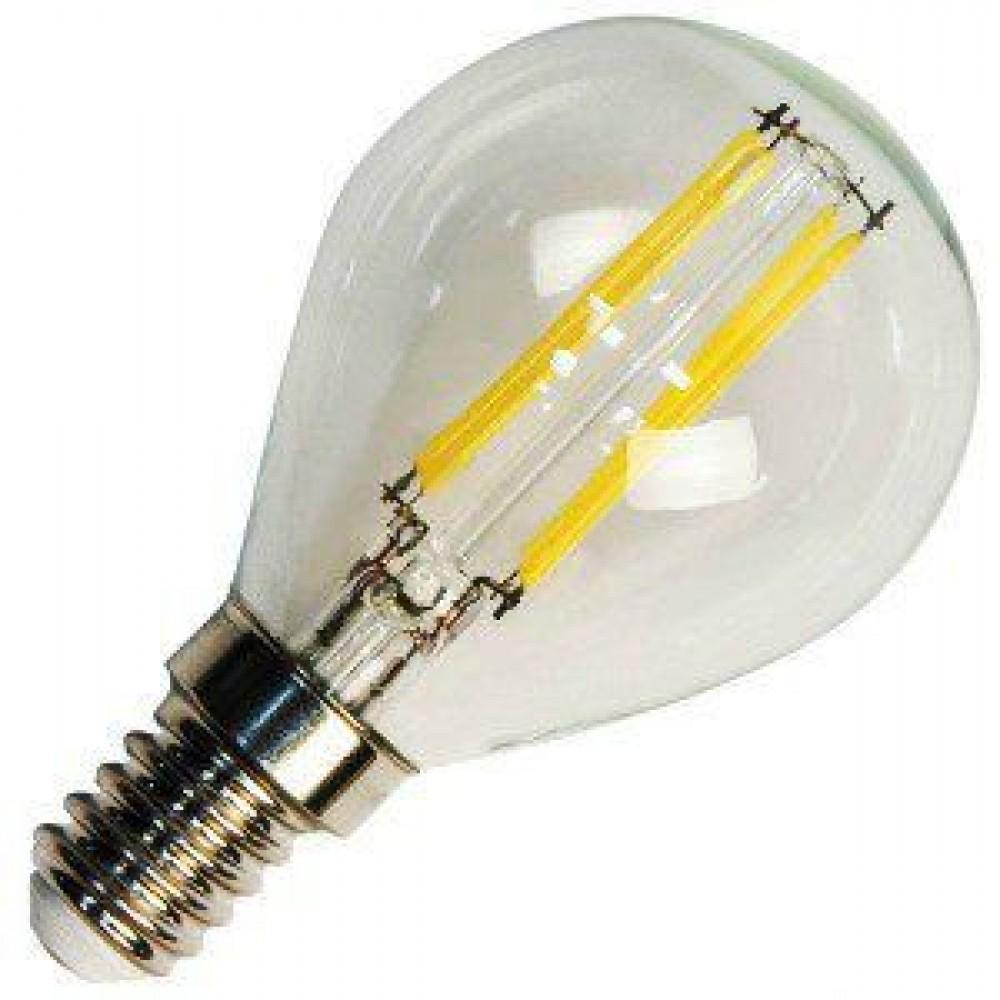 Лампа светодиодная филаментная LSF-4412 D45 4Вт Е14 теплый свет