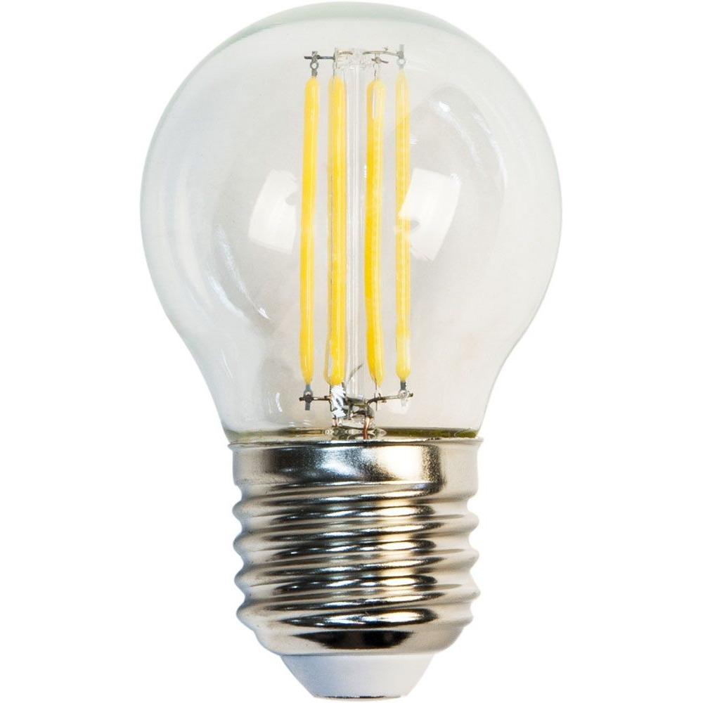 Лампа светодиодная филаментная LSF-4422 D45 4Вт Е27 теплый свет