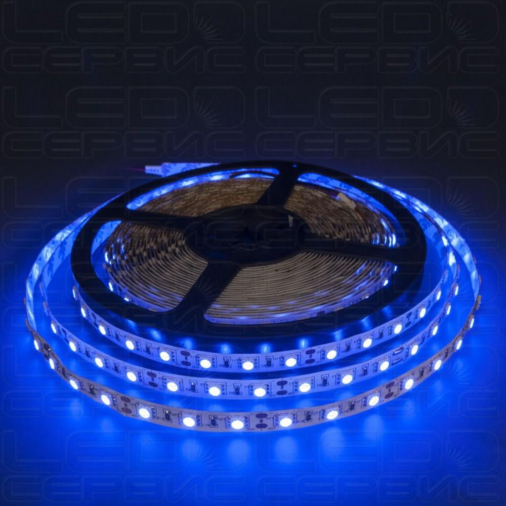 Светодиодная лента LS60 5050 IP55 синий свет Premium