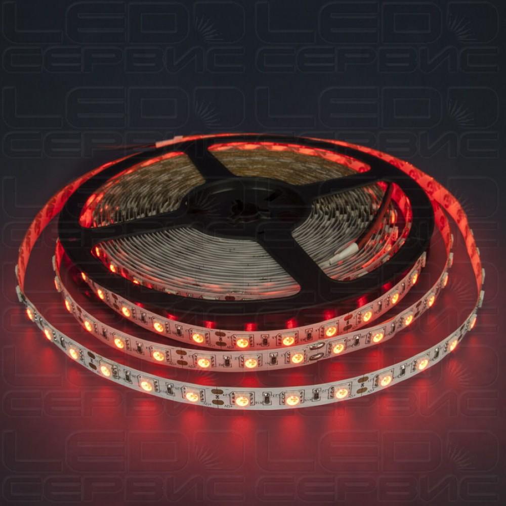 Светодиодная лента LS60 5050 IP55 красный свет Premium