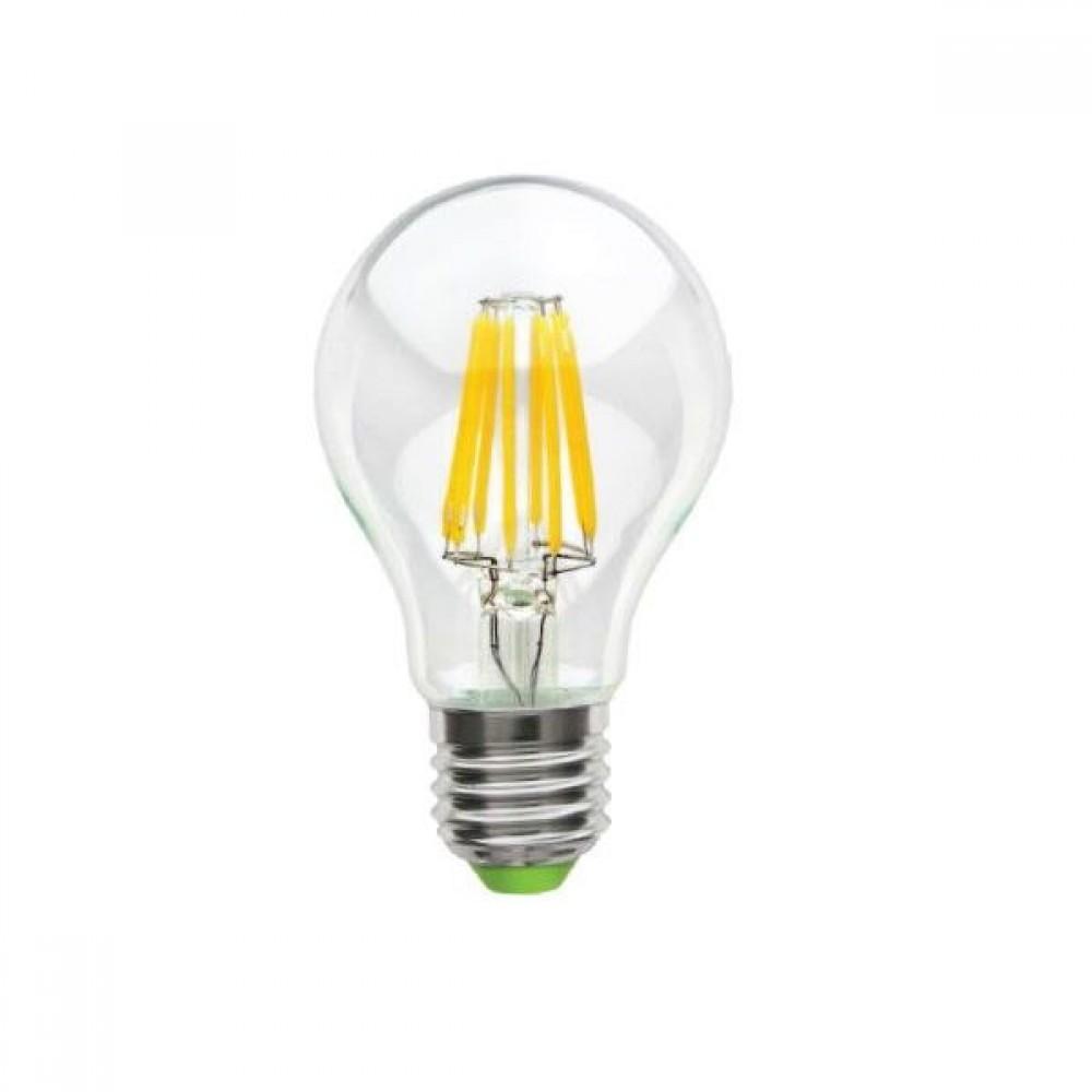 Лампа светодиодная филаментная LSF-6822 А60 8Вт Е27 теплый свет