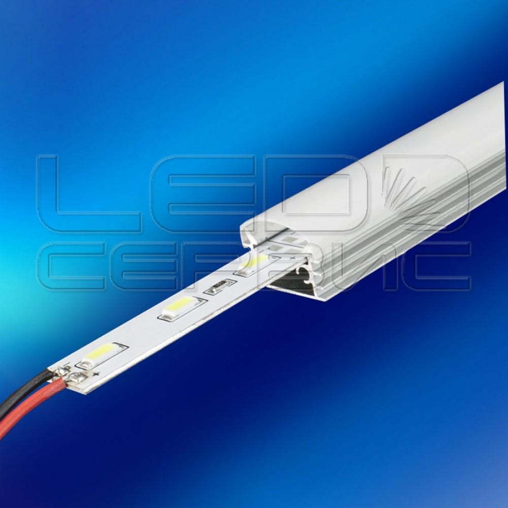 Светодиодная линейка LS60-5730 IP31 холодный свет (с матовым рассеивателем)