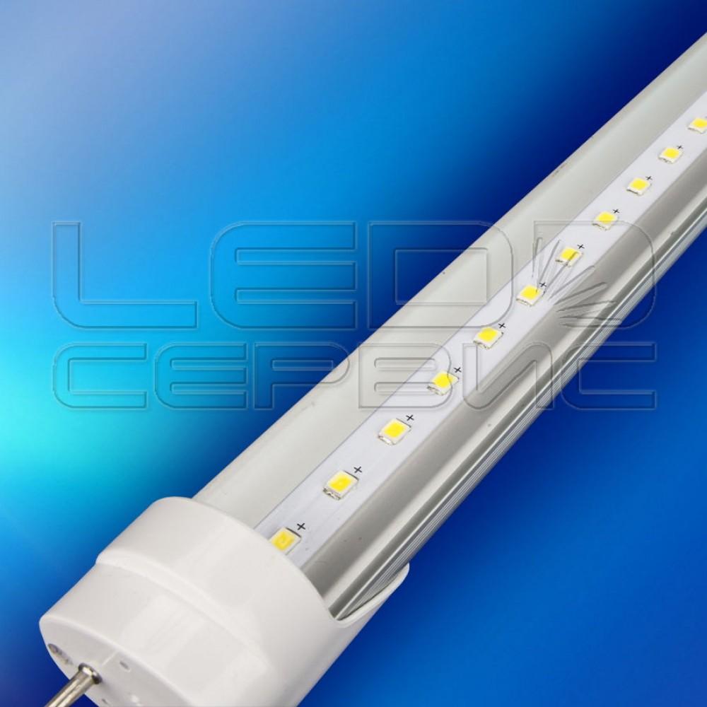 Лампа светодиодная T8 F2835-600 8Вт 6500К (Алюмин. корпус)