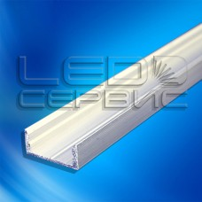 Профиль накладной алюминиевый ЛП7 неанодированный