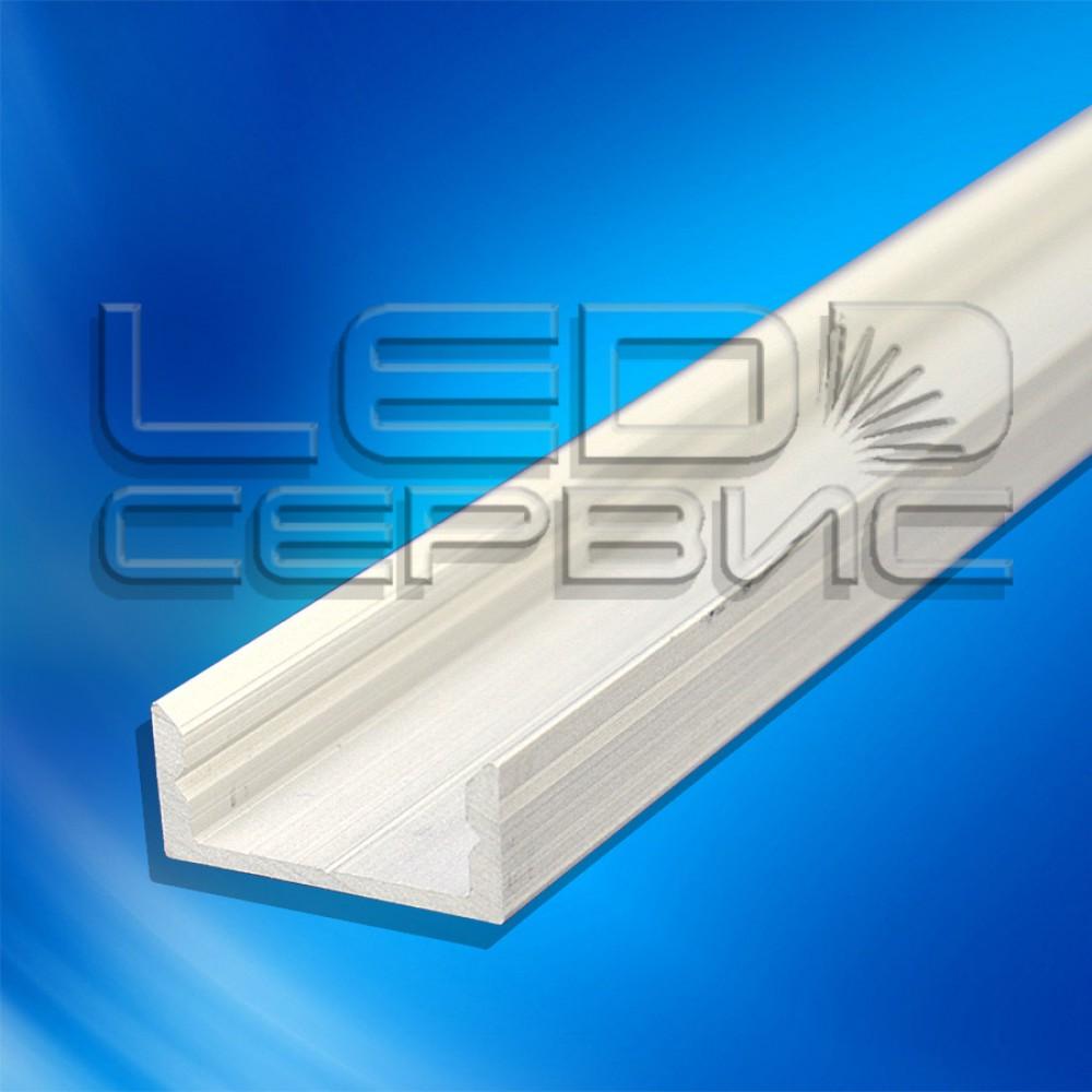 Профиль накладной алюминиевый ЛП7 анодированный