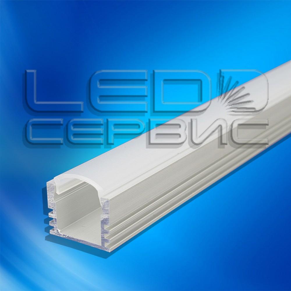 Профиль накладной алюминиевый ЛП12 анодированный