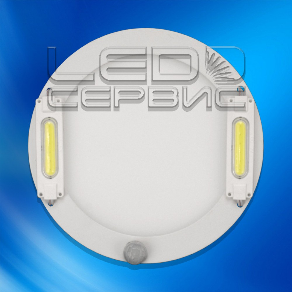 Светодиодный светильник 14W с датчиком движения накладной