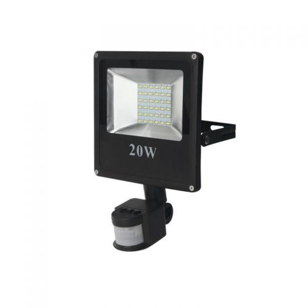 Прожектор матричный светодиодный LS-SMD 20W Slim с датчиком движения