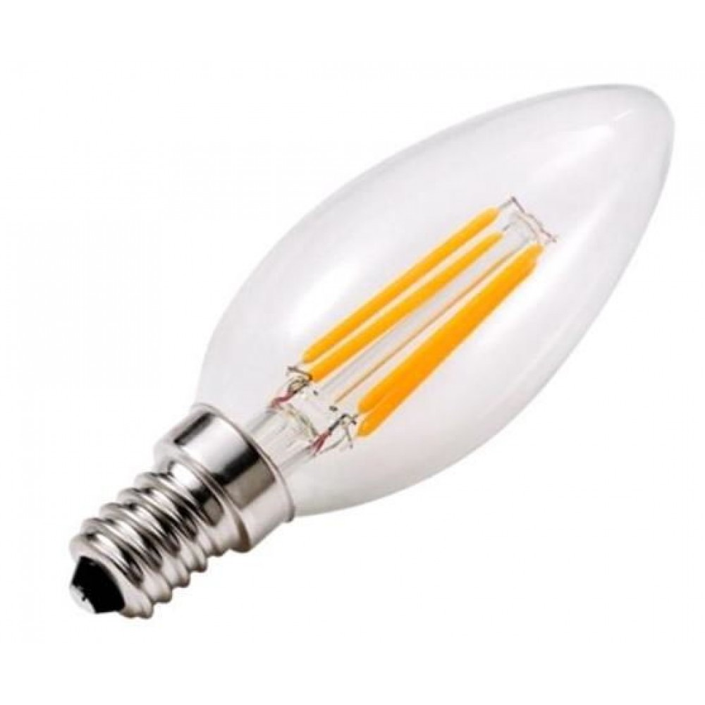 Лампа светодиодная филаментная LSF-3411 С37 4Вт Е14 холодный свет