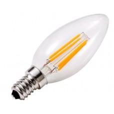 Лампа светодиодная филаментная LSF-3412 С37 4Вт Е14 теплый свет